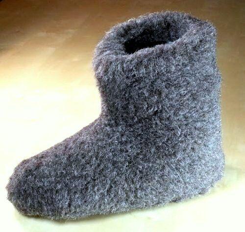 UK 9-Chaussons unisexe laine de mouton pointure Noir-Cadeau Noël