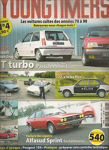 YOUNGTIMERS 4 R5 GT TURBO CITROEN GS ALFASUD SPRINT HONDA NSX AUDI 80 GTE QUATTR