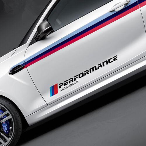 2x Car Sports Styling Side Door Reflective Sticker Trim Decals For BMW M3 M5 X3
