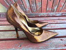 *cOppEr LeAtHeR* Sz 8.5 Metallic Pointy Toe CARRIE Stiletto Heels PUMPs GuESS