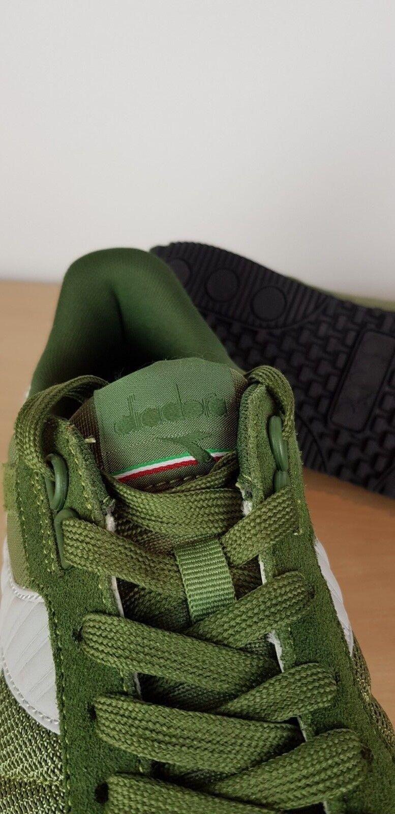 Diadora Homme II Vert Kaki Titan II Homme Daim & Textile Rétro Casuals baskets, UK 8 7b2843