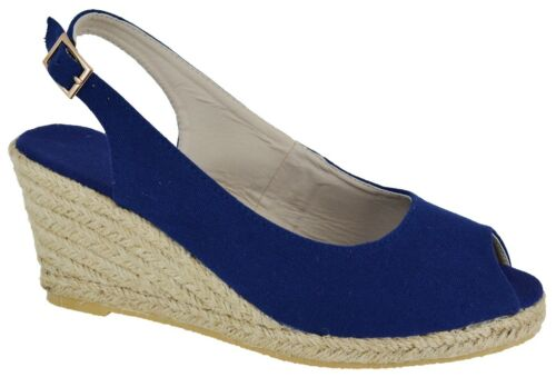 WOMENS COMFY CASUAL PARTY ESPADRILLES LADIES SUMMER WEDGE HEEL SANDALS SHOES SZ