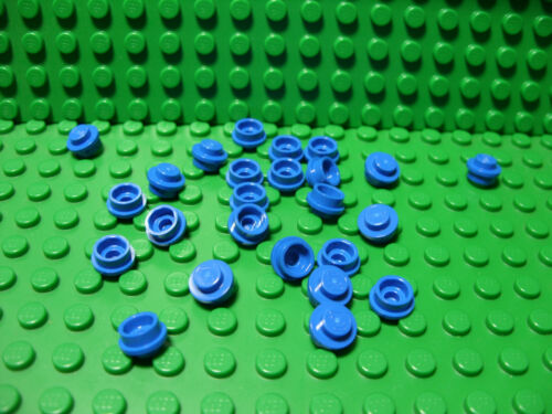 ** 25 CT LOT **  Lego NEW blue 1 x 1 round plate  pieces Lot of 25