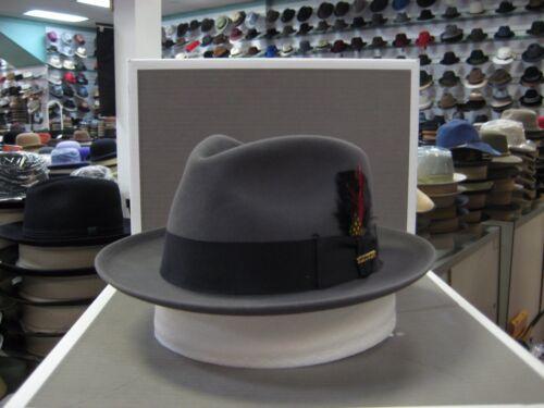 STETSON ASHLAND CARIBOU C CROWN FUR FELT DRESS HAT