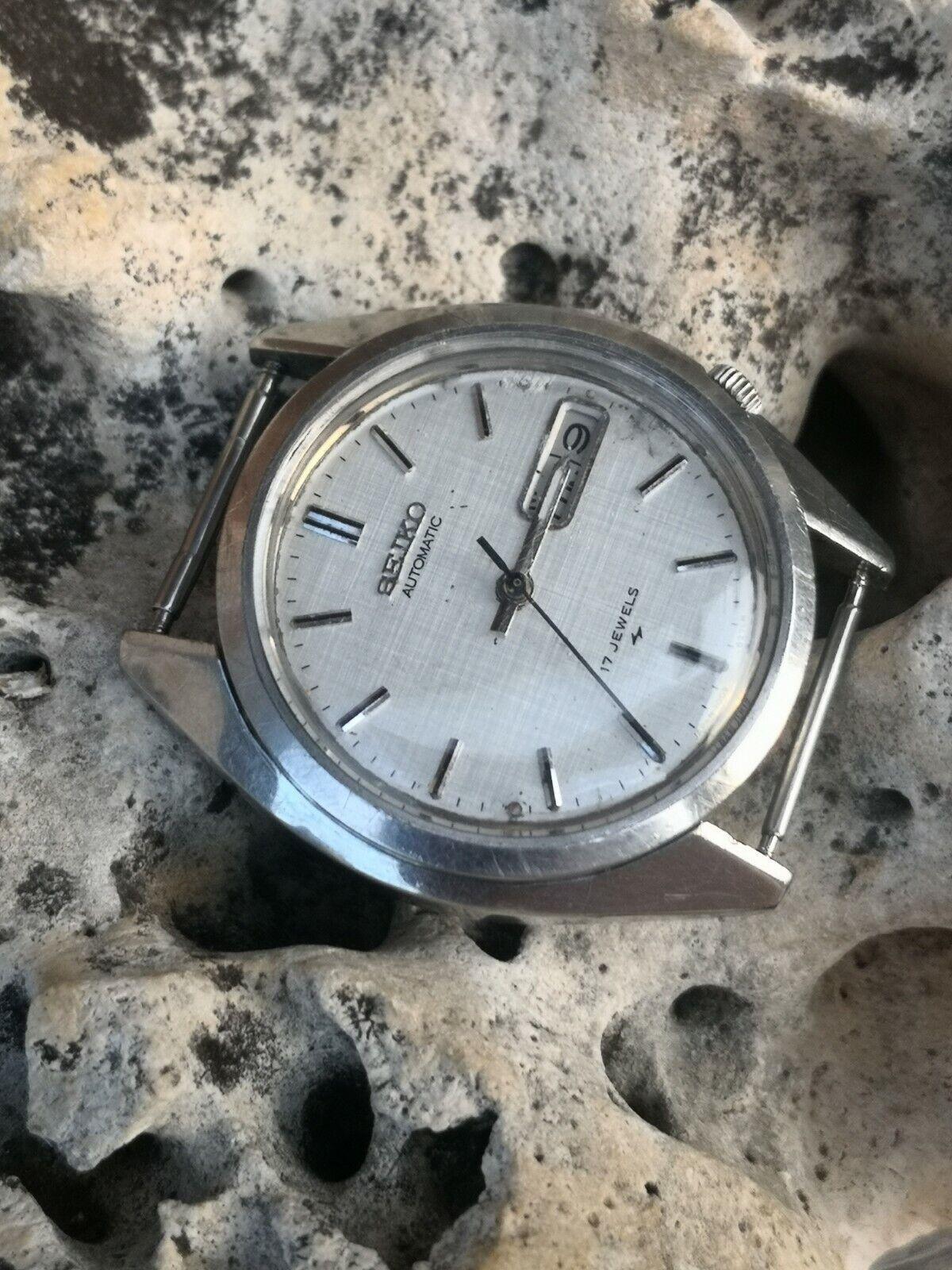 Reloj Watch Seiko Automatic ✈️7009 Vintage NO FUNCIONA PARA PIEZAS O REPAR