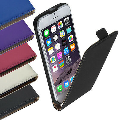Leder Flip Style Case Tasche Etui f Apple iPhone 6 Plus -Farbwahl-