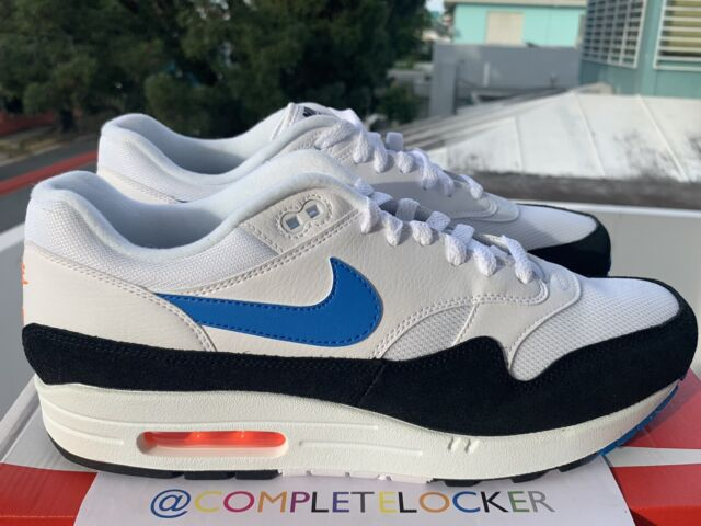 Size 11.5 - Nike Air Max 1 Photo Blue Total Orange
