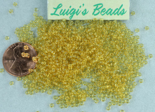 11//0 Round TOHO Japan Glass Seed Beads #2-Transparent Lt Topaz 10g