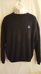 GENUINE-IZOD-MENS-BLACK-PULLOVER-CREW-NECK-SWEATER-SIZE-XL-100-COTTON