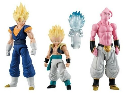 and Gotenks Set of 3 IN STOCK USA Evil Buu Bandai Dragonball Shodo 3 Vegetto
