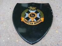 Forester / Midland Brigade Large Regimental Wooden Plaque