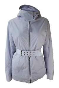 Padded Jacket Belted prada Purple 42 Women's Hooded qEcFFzn6Ow