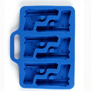 Creative Silicone Ice Drink Tray Ice Cube Gun Pistol Shape Ice Mold Ice Mould