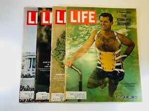 Life Magazines From January 1965 Set of 4 Inauguration Ted Kennedy Peter O'Toole