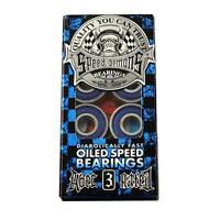 Speed Demons Blue Abec 3 Skateboard Bearings - (8 Pc)