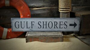 Custom-Gulf-Shores-Arrow-Sign-Rustic-Hand-Made-Vintage-Wooden-Sign-ENS1000443