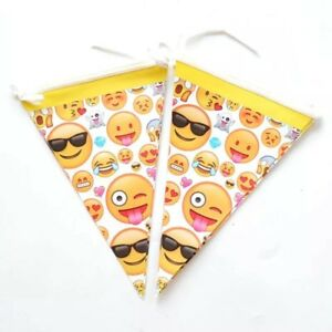 Image Is Loading Emoji Themed Triangle Flag Banner Children 039 S