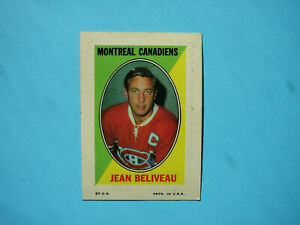 1970-71-TOPPS-O-PEE-CHEE-NHL-STICKER-STAMP-CARD-INSERT-JEAN-BELIVEAU-EX-OPC