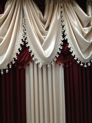 Luxurious HILTON WINDOW TREATMENT,window curtain: Panel OR valance,