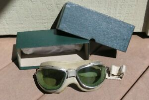 WW2 US Army Military Chas. Fischer Mark II Aviator Flight Flying Goggles