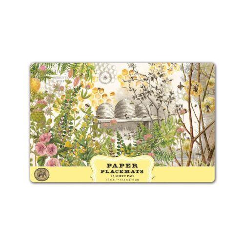 PM341 Michel Design Works Paper Placemats Honey /& Clover
