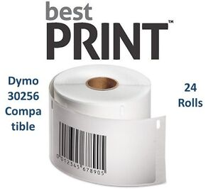 24-Rolls-of-300-Labels-2-5-16-034-x-4-034-For-DYMO-LabelWriter-30256-Compatible