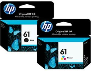 HP 61 2pack Combo Ink Cartridges 61 Black and Color NEW GENUINE /3619973