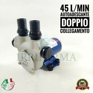Pompa-Travaso-Gasolio-Autoadescante-12v-VP45N-45l-min-Auto-Adescante-Barca-MARCO