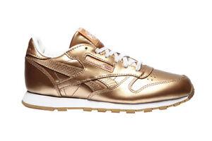 Reebok-Classic-Leather-Sneaker-JR-metallique-or