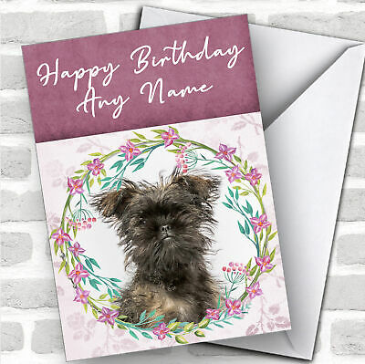 Affenpinscher Dog Personalised Birthday Greetings Card