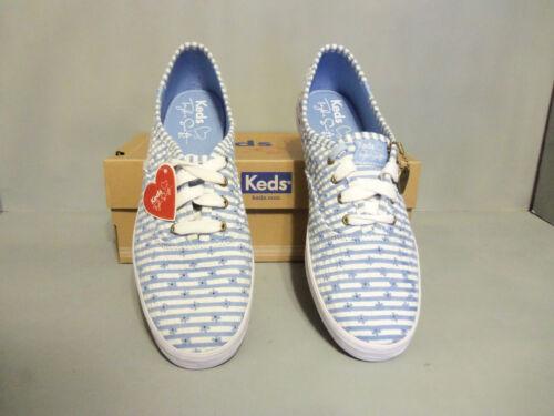 Seersucker Blue Fashion witte Zeldzame penpunt Dames Sneaker Keds Taylor Swift aBqXR