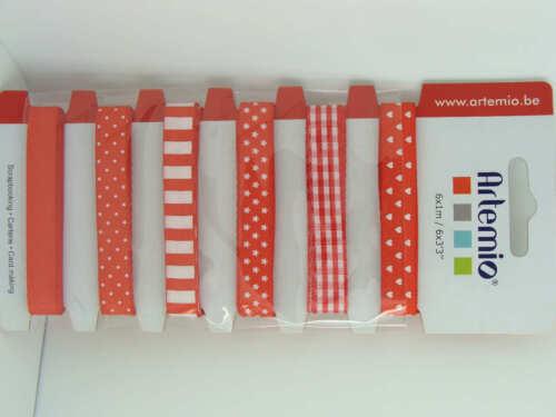 6x1m rubans Rouges déco scrapbooking Artemio DIY Loisirs créatifs mod22