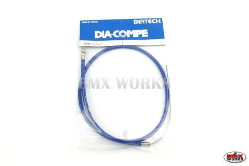 Genuine Dia-Compe Brake Cables Blue 1 Front /& 1 Rear Old School Retro BMX