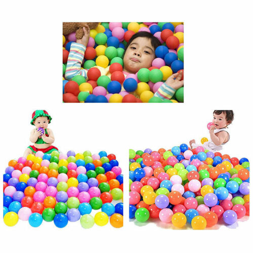 100pcs Multi-Color Cute Kids Soft Play Balls Toy for Ball Pit Swim Pit PoolODUS