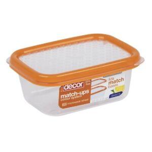 Decor Match Ups Basics Container Oblong Orange 200ml 1 ea