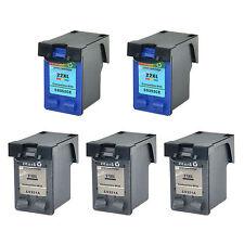 3 Black 21XL C9351A +2 Color 22XL C9352CE Ink Cartridge for HP Deskjet F335 F340