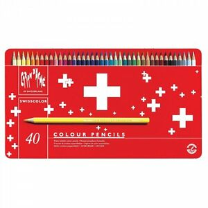 Caran-D-039-Ache-Swisscolour-Water-Soluble-Pencils-40-Tin