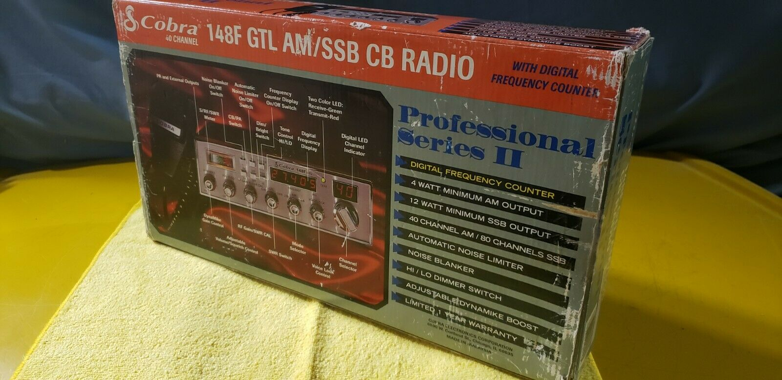 COBRA 148GTL (F) IN BOX*AM/FM/SSB OLD SCHOOL ORIGINAL*COLLECTOR QUALITY SSB RIG.. Buy it now for 979.00
