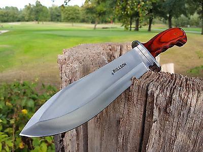 Äxte & Beile Camping & Outdoor MüHsam Bullson Usa Messer Jagdmesser Knife Buschmesser Machete Machette Macete Rot
