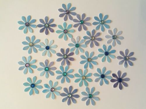 25 Paper Daisy Flower Embellishments Card Toppers 2.5cm Card Making