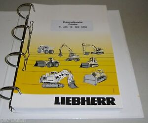 Spare Parts Catalog List Liebherr Telescopic Loader TL 445 10 Stand 03/07