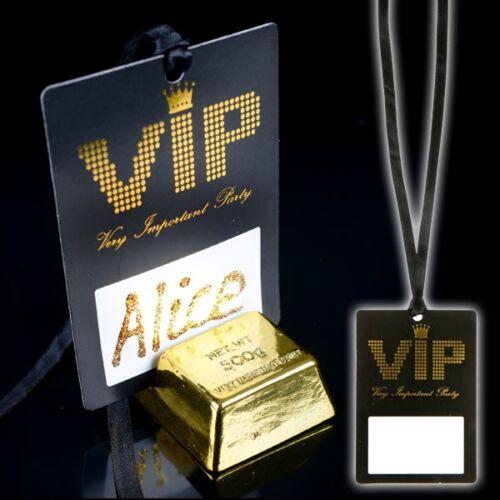 VIP Pass mit Bändchen zum Umhängen 7cm x 10cm 10er Pack