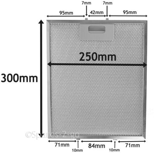 2 Argento Filtro per HOTPOINT INDESIT Cappa sfiato metallo FILTRI 300 X 250mm