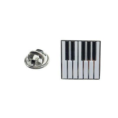 Cuffarts Lapel Pin for Men Music Badge Emblem Black /& White Enamelled Piano Keys Gift Fan P10072