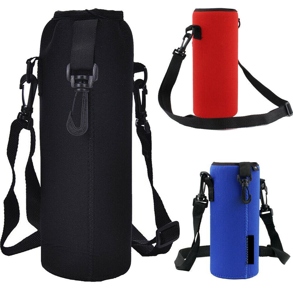 2 Pack Bottle Carrier Net Holder Paracord Handle Carry Mesh Bag Sleeve