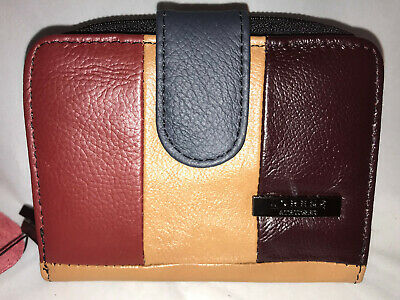 Ladies leather Lorenz purse RFID Protected with bus pass window ID on reverse