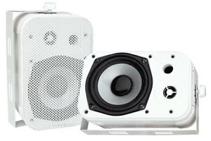 2-PYLE-PDWR40W-5-25-034-2-Way-White-Indoor-Outdoor-Waterproof-Home-Theater-Speakers