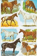 Chromo Le Suh Découpis Races de chevaux 1511 Embossed Illustrations Horses