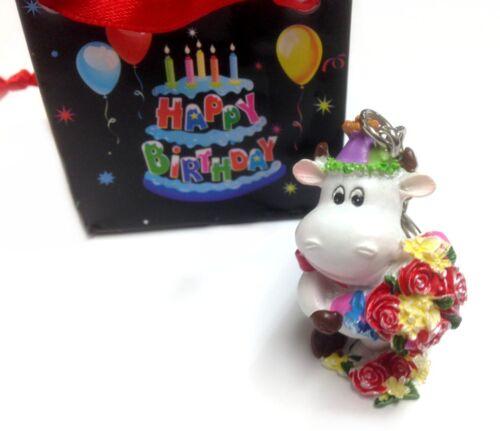 Niedliche Schlüsselanhänger zum Geburtstag Happy Birthday I love you +Tasche