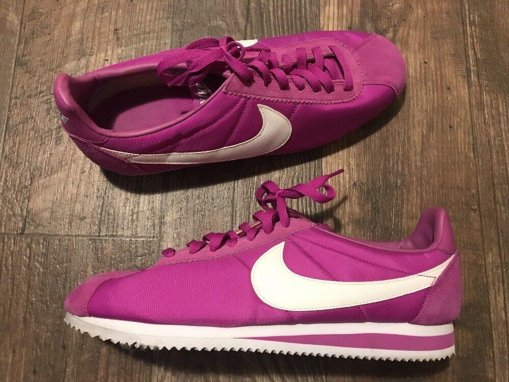 Nike cortez retrò di di retrò nylon scarpe da ginnastica atletica bianco viola 488291-502 sz 12 ffdffc